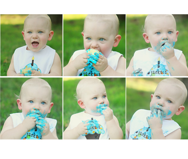 Jackson 1 year collage