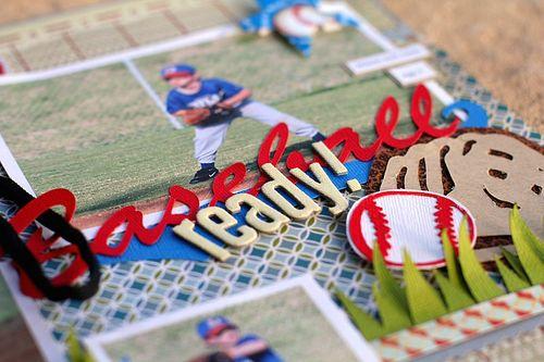 Baseball ready closeup