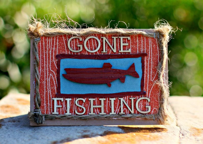 Gone Fishing Card