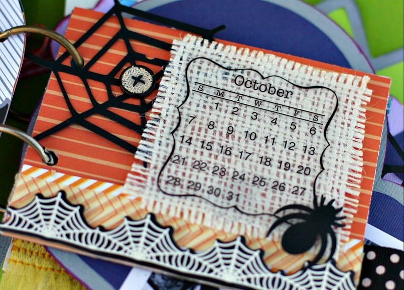 Halloween Mini Book Page 1 closeup