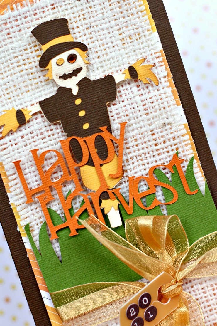 Happy Harvest Card closeup